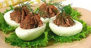 гусиные яйца с начинкой
