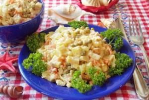 Салат из осетра