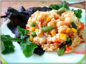 пангасиус с рисом