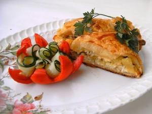 Низкокалорийный рыбный пирог