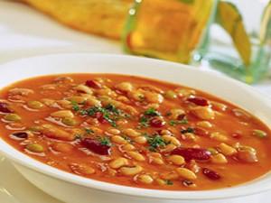 суп с горохом и фасолью из курицы