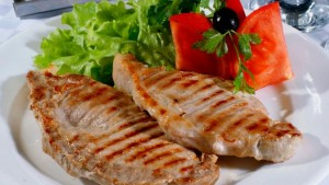 Сочное блюдо на гриле