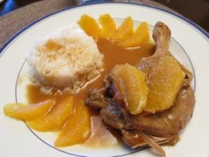 блюдо в апельсиновом соусе