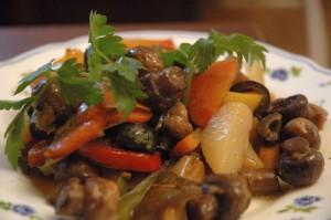 Тушеные овощи и грибы