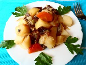 Блюдо с картошкой