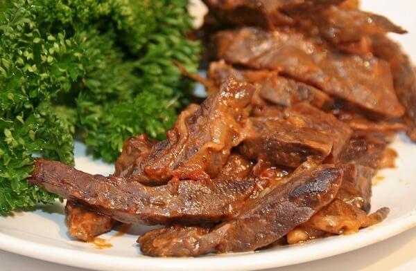 блюдо из говяжьего легкого