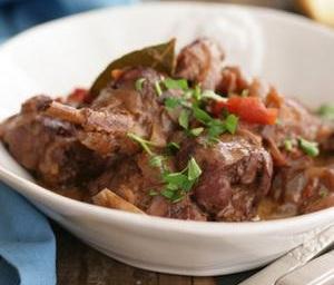 Helen Stifado's rabbit stew.