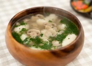 Первое блюдо с грибами