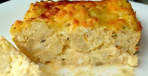 Запеканка с сыром и яйцами из цветной капусты