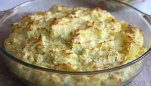 Капуста, запеченная в картофельном пюре