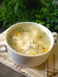 Крем-суп с цветной капустой и путассу