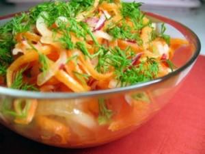 Блюда с вареной морковью