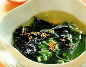 Диетический суп из морской капусты