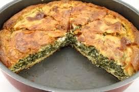 Пирог с брынзой и перепелиными яйцами