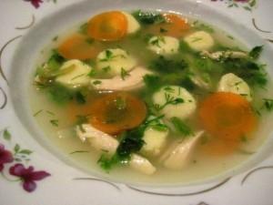 Суп манный с клёцками