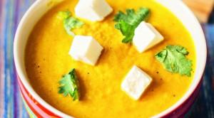 Суп-пюре с сыром и чесноком