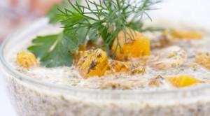 Суп-пюре с тыквой и грибами