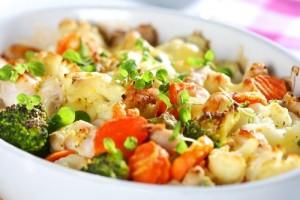 Тушеные овощи в сливочном соусе