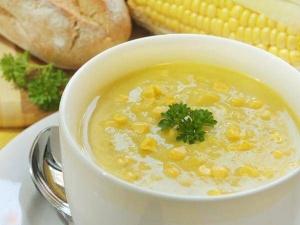 Куриный крем-суп с кукурузой