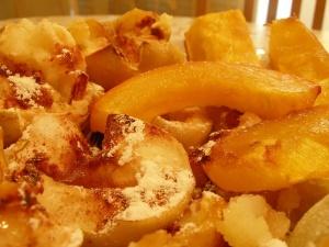 Тушеная тыква с яблоками