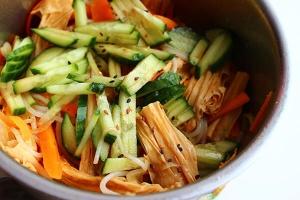 Фучжу с овощами