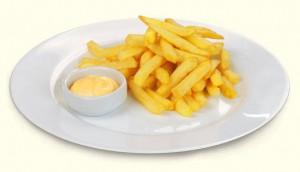 Картофель с сырным соусом