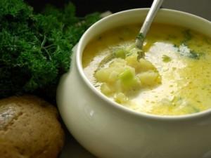 Картофельный суп с кабачками