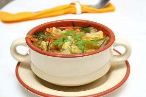 Овощной суп с кольраби