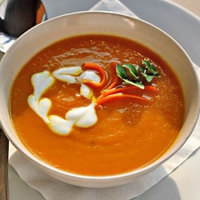 Оранжевый суп-пюре