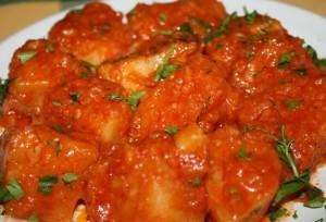 Рагу с томатным соусом