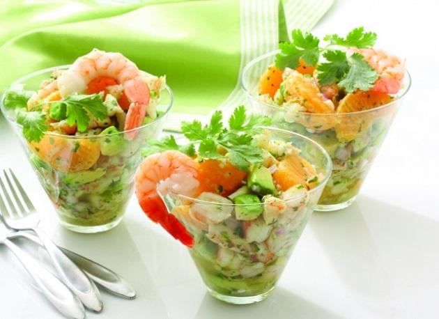 Салат с морепродуктами на Новый год 2019