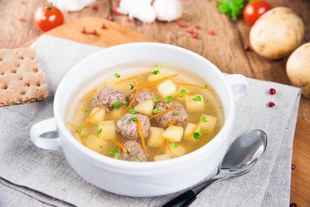 Суп с ежиками