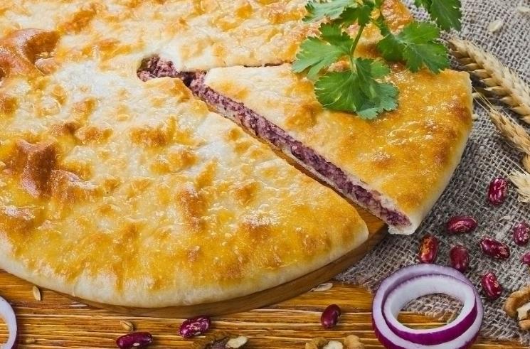 пирог с фасолью