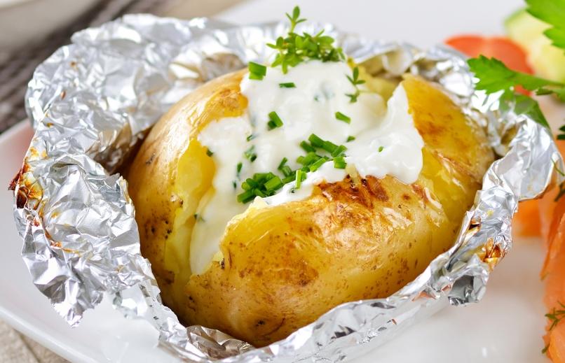 картофель в фольге