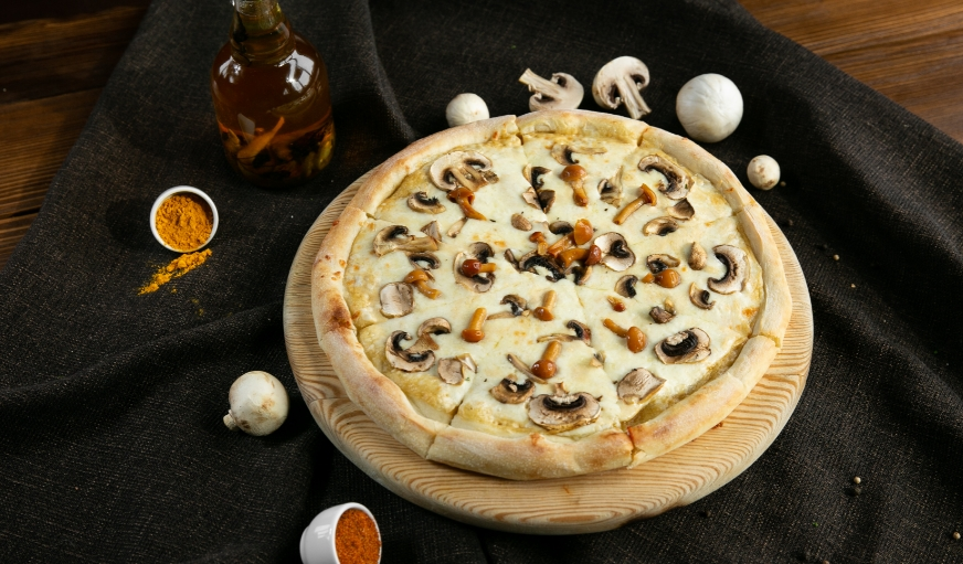 опята в пицце