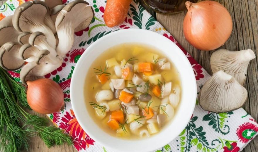 вешенки в супе